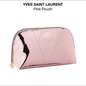 🆕💖YSL Pink Beaute Metallic Make Up Bag / Pouch